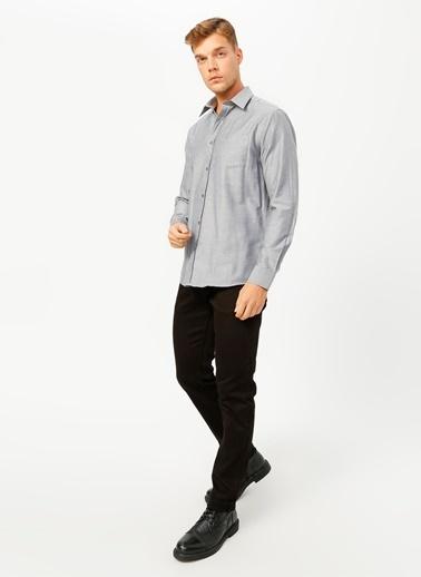 Fabrika Comfort Fabrika Comfort Gömlek Yaka Düz Siyah Gömlek Siyah